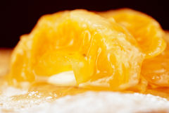 Millefeuille with tangerine Royalty Free Stock Image