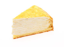 Millefeuille in a white background Royalty Free Stock Image