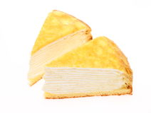 Millefeuille in a white background Royalty Free Stock Photography