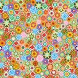 Millefiori. Seamless abstract mosaic pattern. Stock Image