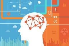Millenials da geração y da ciência de cérebro da neurociência ilustração do vetor