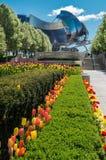 Milleniet parkerar den Pritzker paviljongen Royaltyfria Bilder