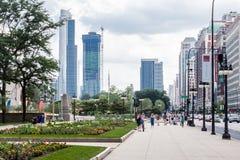 Milleniet parkerar springbrunnen i Chicago Arkivfoton