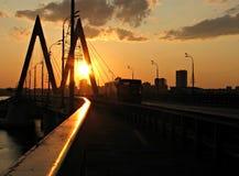 The Milleniium Bridge in Kazan Stock Photo