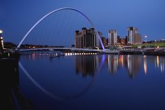 Millenium Bridge. Newcastle gateshead Quayside Royalty Free Stock Photography