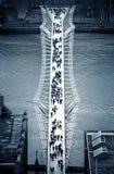 Millenium Bridge. An aerial view of the Millenium Bridge, London, Uk Royalty Free Stock Photos