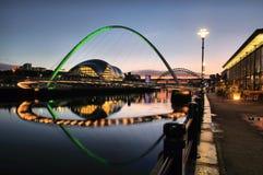 Millenium Bridge Green Sunset Stock Images