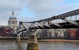 Millenium Bridge in London, England Royalty Free Stock Photography