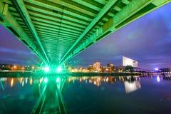 Millenium bridge Manchester UK stock photos