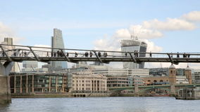 Millenium Bridge over Thames River Stock Photos