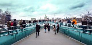 Millenium bridge. Royalty Free Stock Image
