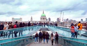 Millenium bridge. Royalty Free Stock Images