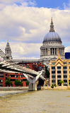 Millenium Bridge and Sain Paul's Cathedral Stock Image
