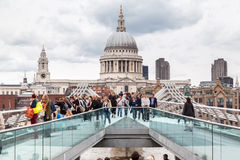 Millenium Bridge Saint Paul London Royalty Free Stock Photo