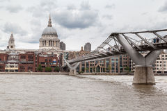 Millenium Bridge Saint Paul London Royalty Free Stock Image