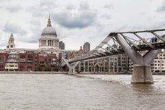 Millenium Bridge Saint Paul London Royalty Free Stock Image