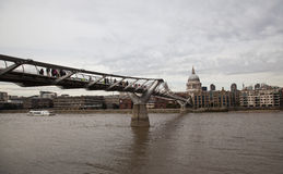 Millenium Bridge Saint Paul London Stock Images