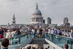Millenium Bridge Saint Paul London Royalty Free Stock Photos