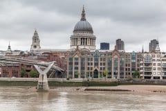 Millenium Bridge Saint Paul London Stock Photos