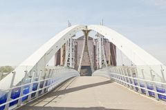Millenium Bridge, Salford Quays Royalty Free Stock Photos