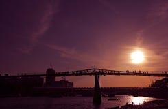 Millenium Bridge at sunset Royalty Free Stock Image