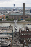 The Millenium Bridge and Tate Modern Stock Image
