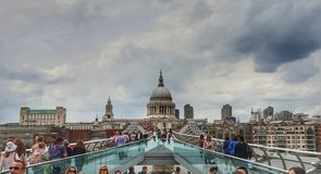 Millenium Bridge stock photo