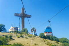 Millenium cross on Vodno mountain peak Royalty Free Stock Photos