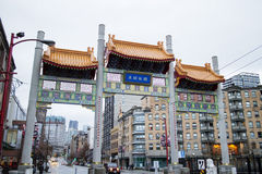 Millenium gate in vancouver chinatown Royalty Free Stock Photo