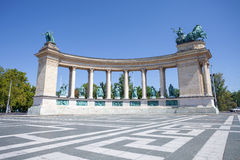 Millenium monument in Budapest Stock Photo