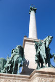 Millenium Monument Budapest Hungary. The monument to the heroes of Hungary Stock Image