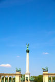 The Millenium Monument on the heroes square in Budapest Royalty Free Stock Photos