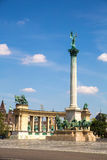 The Millenium Monument on the heroes square in Budapest Stock Photography