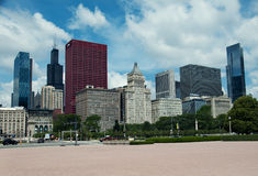 Millenium park in Chicago. City view.  USA Royalty Free Stock Photo