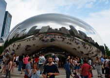 Millenium park in Chicago, USA Royalty Free Stock Images