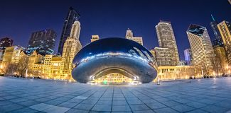 Millenium park and cloud gate the bean downtown chicago Royalty Free Stock Photography