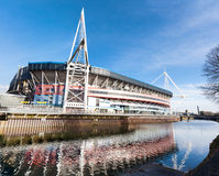Millenium Stadium Exterior Cardiff Royalty Free Stock Photos