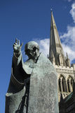 Millenium statue of Saint Richard by Philip Jackson Royalty Free Stock Photography