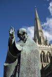 Millenium statue of Saint Richard by Philip Jackson Royalty Free Stock Photography