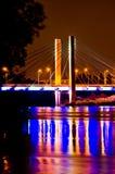 Milleniumbro, Wroclaw, Polen Royaltyfri Bild