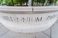 Milleniummen parkerar i Chicago, Illinois Arkivbilder