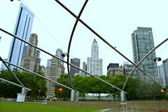 MilleniumPark Chicago Fotografering för Bildbyråer