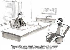 Millennial konsultant royalty ilustracja