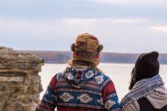 Millennial para podróżuje zlanych stany zdjęcie stock