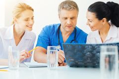 Millennial radiologists working together at hospital Royalty Free Stock Photo