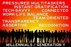 Millennials stock de ilustración