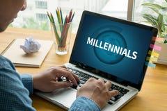 Millennials fotografia stock