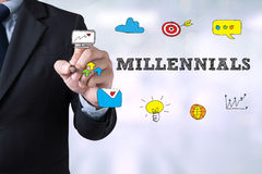 MILLENNIALS CONCEPT Royalty Free Stock Photography