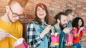 Millennials nutrition lunch fast food meal royalty free stock photo