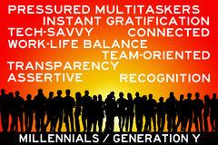 Millennials Royalty Free Stock Photos